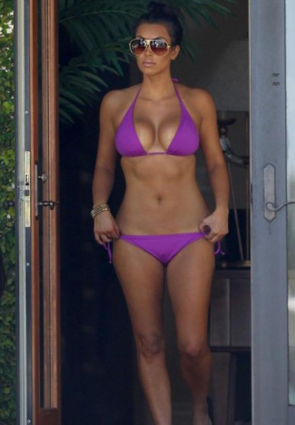 Daily Abspiration Hot Chicks Hot Abs Purple Bikini