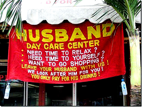 Husband Day Care Center Funny Photo