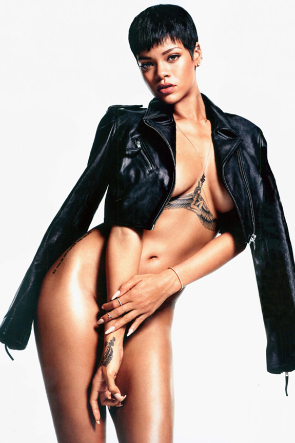 Rihanna Naked GQ Magazine