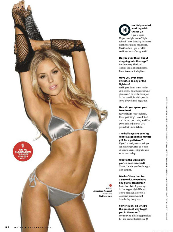 UFC Octagon Girls Maxim Magazine Brittney Palmer