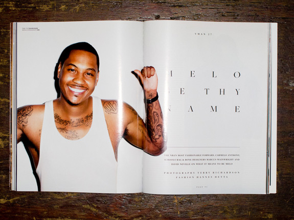 Terry Richardson Photos Carmelo Anthony V Man
