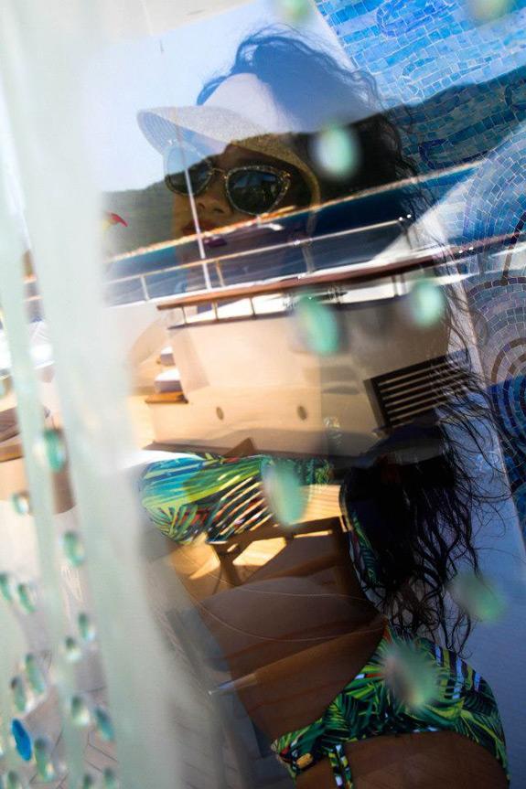 Rihanna Supreme Bitch Yacht Vacation 10