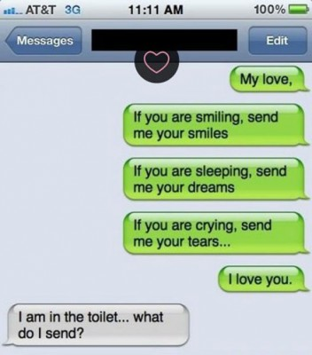 I Am In The Toilet Text
