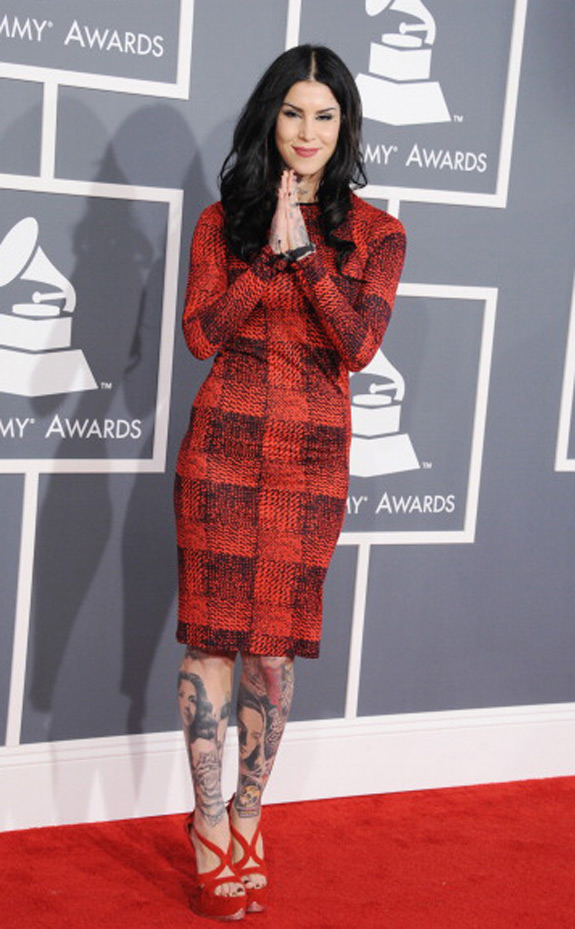 Kat Von D Derek Photo Grammys Awards