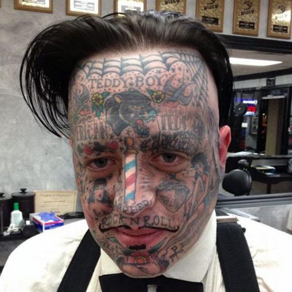 Ridiculous Tattoo Face Tattoo FAIL Photo