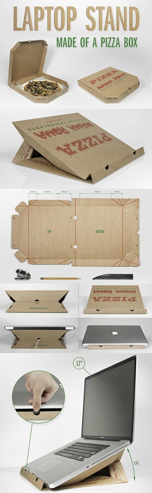 Laptop Stand Pizza Box Main