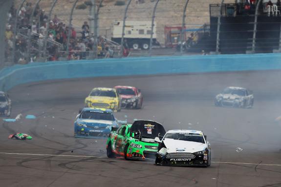 NASCAR Subway Fresh Fit 500 Phoenix Danica Patrick David Ragan Crash