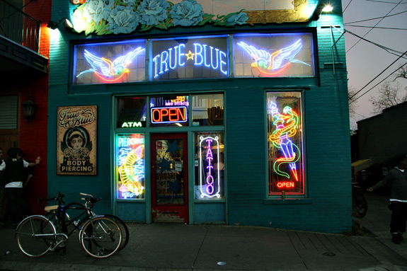 SXSW Tattoo Shop Austin True Blue