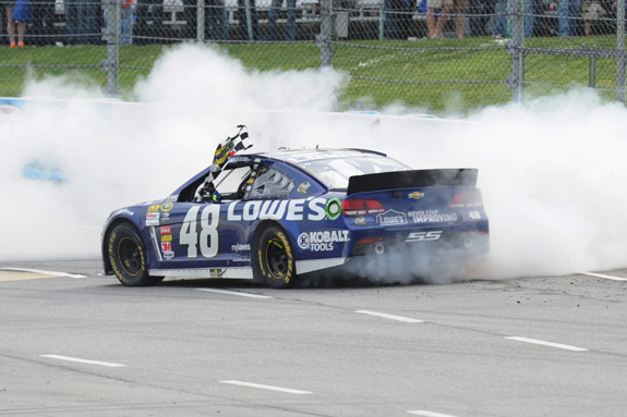 NASCAR Jimmie Johnson Martinsville Win