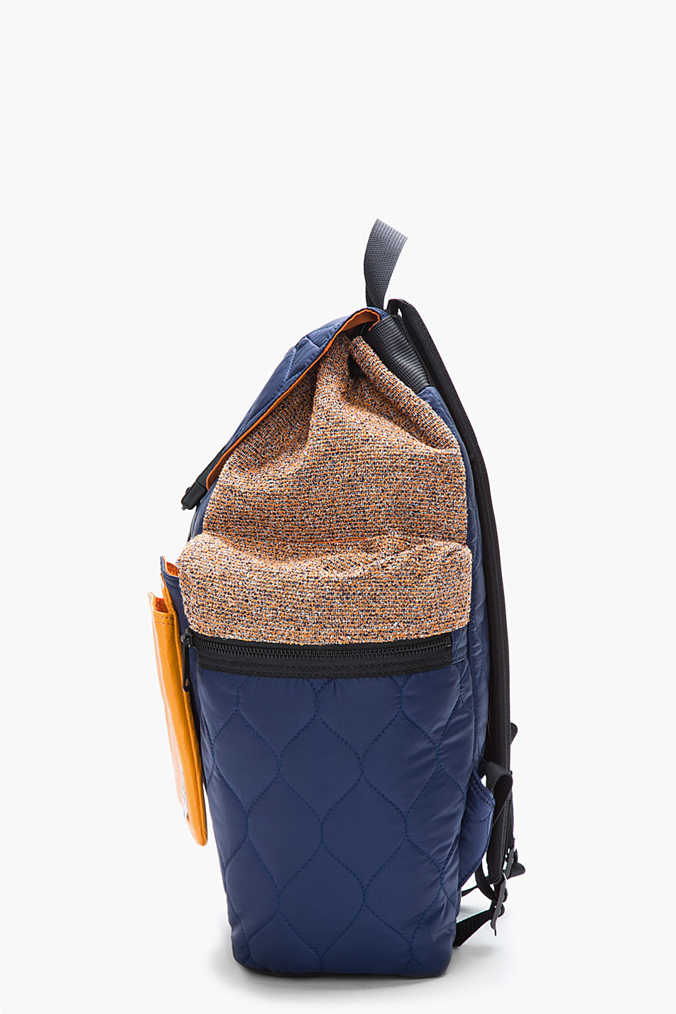 Porter Carven Navy Blue Quilted Backpack