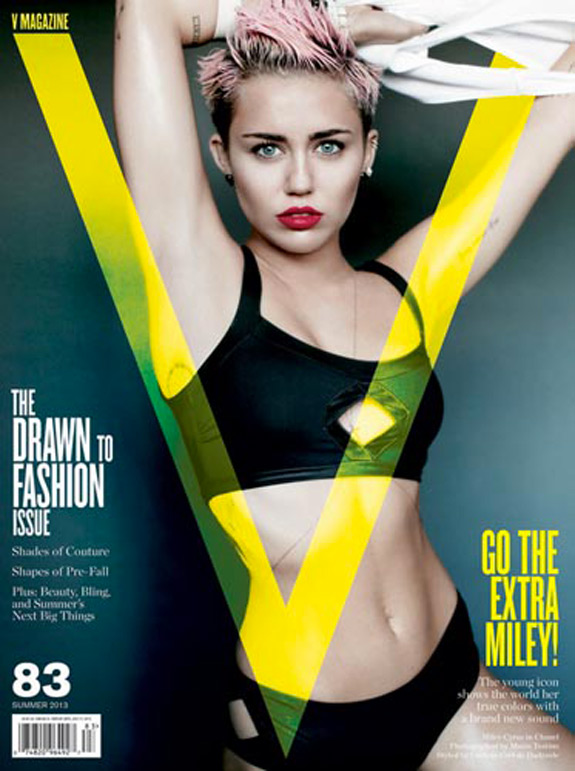 Miley Cyrus V Magazine Photos (1)