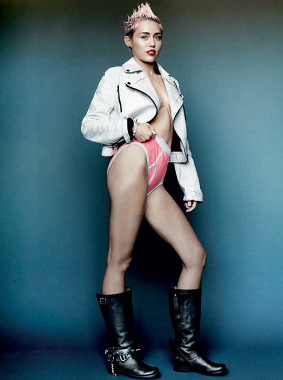 Miley Cyrus V Magazine Photos (4)