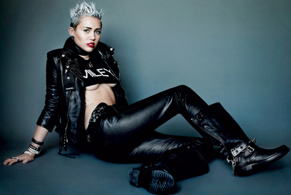 Miley Cyrus V Magazine Photos (5)