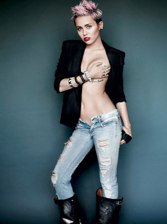 Miley Cyrus V Magazine Photos (6)