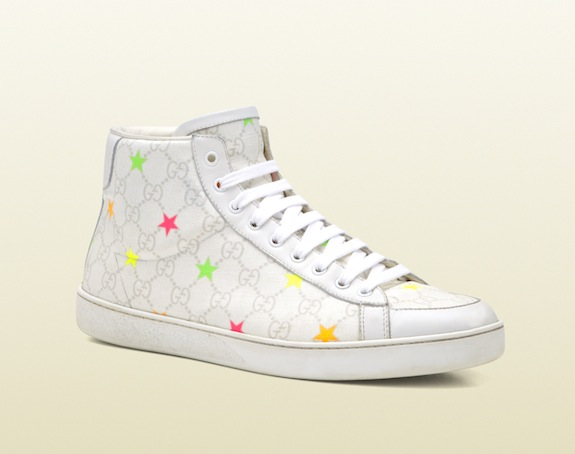 Gucci GG Supreme Stars Canvas High Top Sneakers