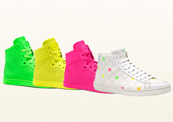 Gucci Neon High Top Sneakers