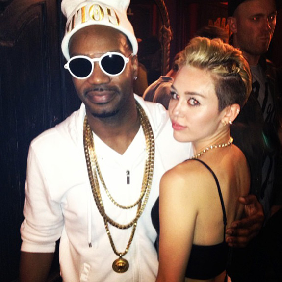 Juicy J Miley Cyrus Twerk