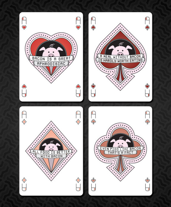 Bacon Playing Cards Bacon Card Game