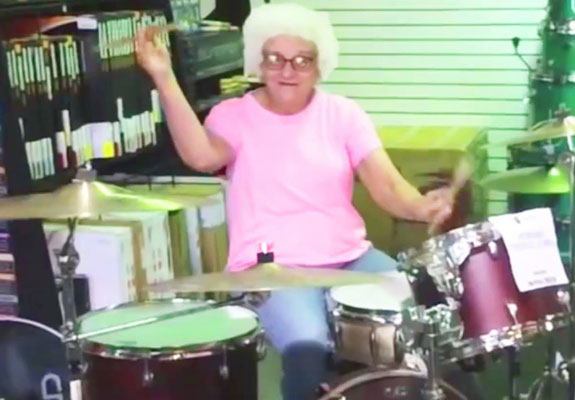 Grandma Rocks Drum Set