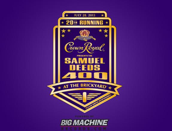 Crown Royal NASCAR Samuel Deeds Brickyard