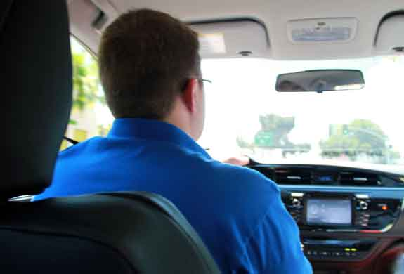Driving 2014 Toyota Corolla