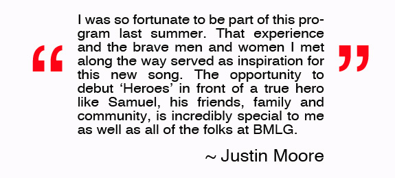 Justin Moore Heroes Quote