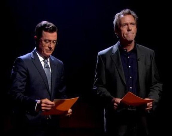 Hugh Laurie Stephen Colbert Vulgar Terms Basic Cable Video
