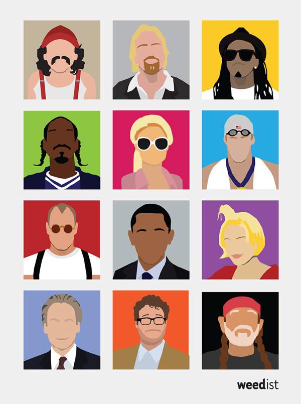 Celebrity Weedist Minimal Poster
