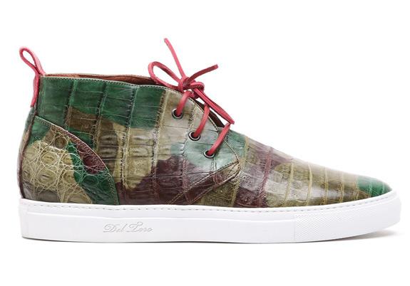 Green Del Toro Camo Genuine Crocodile Alto Chukka Sneaker