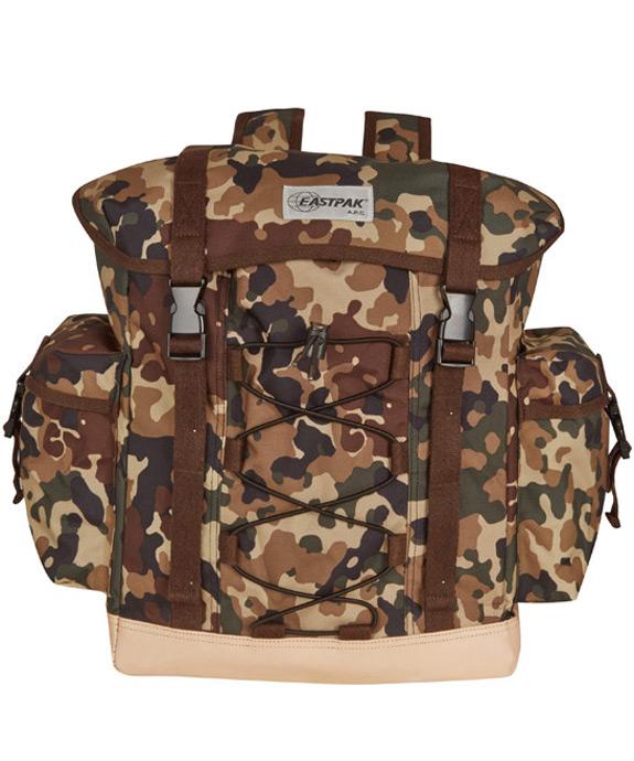 APC Eastpak Brown Camouflage Print Cargo Backpack