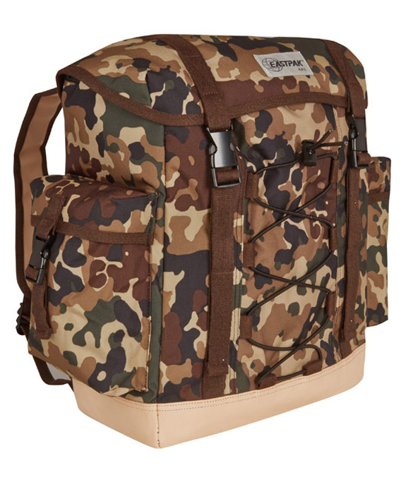 APC Eastpak Brown Camouflage Print Cargo Backpack