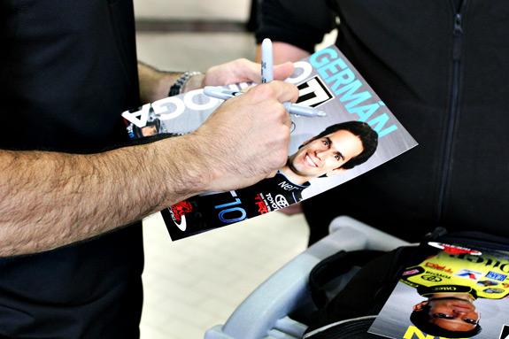 German Quiroga NASCAR Toyota Autographs