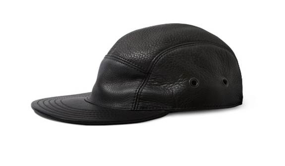 Killspencer Black Leather 5 Panel Hat