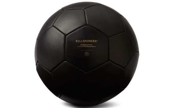 Killspencer Black Leather Soccer Ball