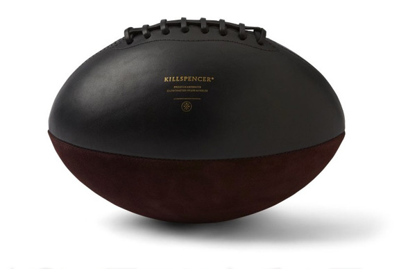Killspencer Leather Burgundy Italian Oil Suede Football