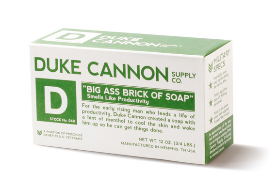 Duke Cannon Brick Big Ass Productivity Soap