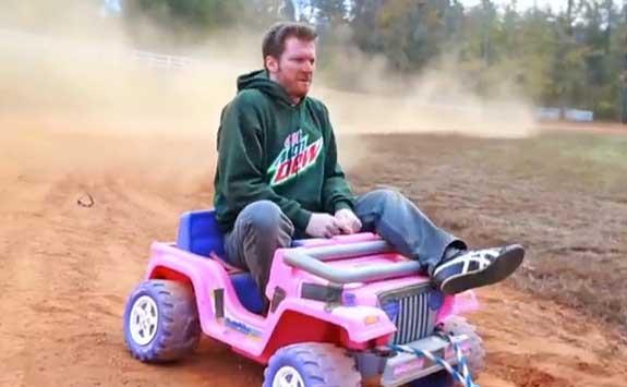 Nascar Dale Jr Cardboard Rodeo Pink Truck