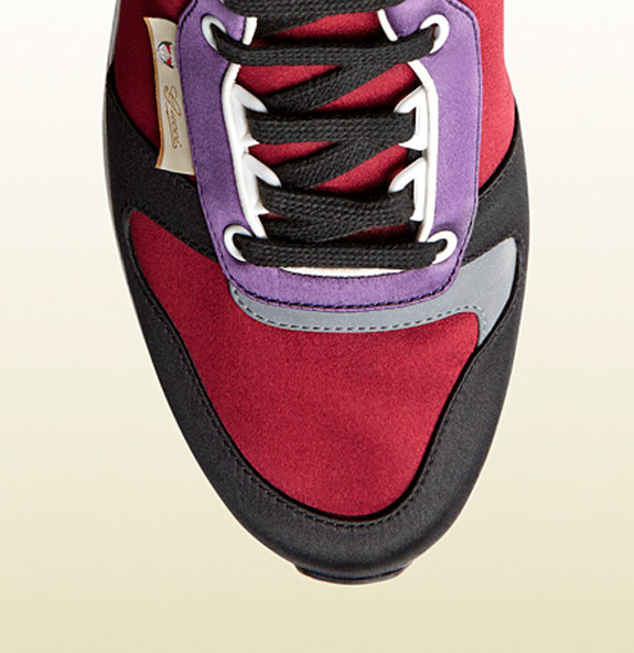 Gucci Multicolor Satin Lace Up Sneaker
