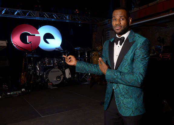 LeBron James All GQ Star Party