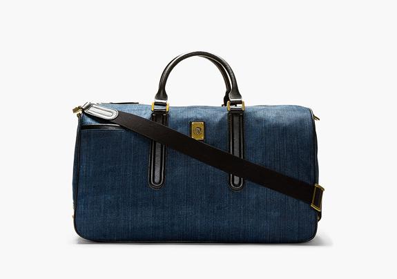 Diesel Blue Denim Vanguarding Duffle Bag
