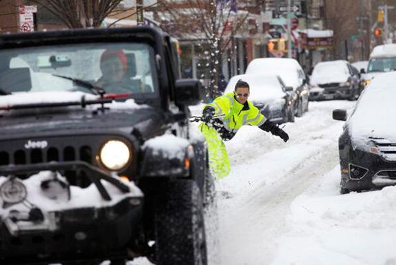 Man Snowboarding New York City