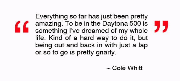 Quote Cole Whitt Nascar