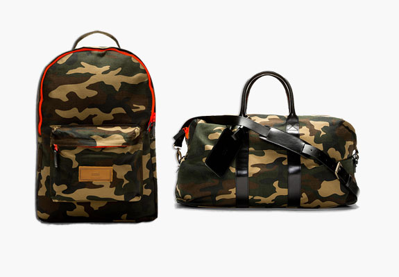 AMI Canvas Camo Print Backpack Duffle Bag