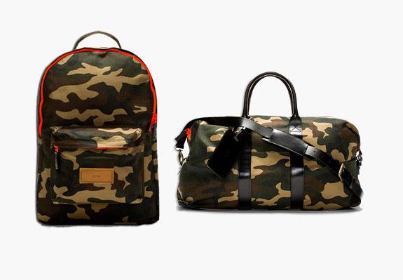 AMI Canvas Camo Print Backpack Duffle Bag