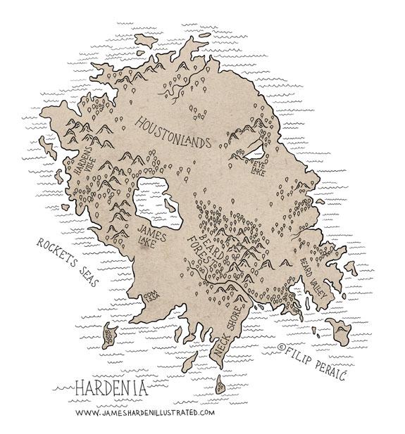 James Harden Illustrated Isle Of Hardenia
