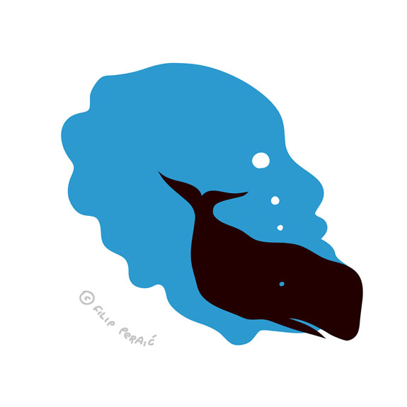 James Harden Illustrated Whale