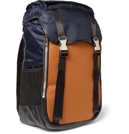 Wooyoungmi Panelled Leather Trimmed Backpack