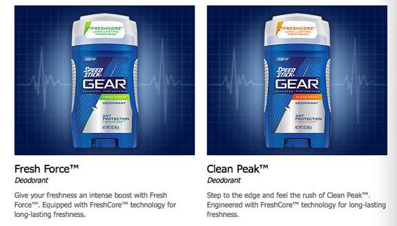 Fresh Force Clean Peak Speed Stick Gear Deodorant Antiperspirant