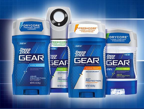 Speed Stick Gear Deodorant Antiperspirant