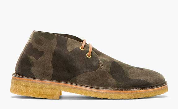 NDC Made By Hand Green Camo OtterProof Desert Boots